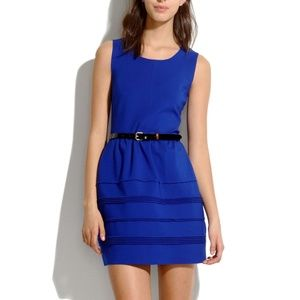 MADEWELL Silhouette Raw Edge Fit Flare Dress
